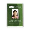 """Baumgartens Vertical ID Card Holder - 3.4"""" x 2.1"""" - Plastic - 25 / Pack - Translucent"""