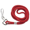 "Standard Rope Lanyard - Red - 34"" Length - Red - Nylon"