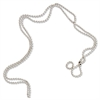 "Baumgartens Beaded ID Chain - 36"" Length - Silver - Nickel Plated"