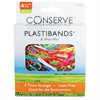 "Conserve Plastibands - 4.25"" Length - Latex-free - 100 / Box - Polyurethane - Assorted"