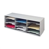 "Buddy Desktop Organizer - 12 Compartment(s) - 32.5"" Height x 11.5"" Width x 10.3"" Depth - Desktop - Platinum - Steel - 1Each"