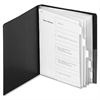"Cardinal SpineVue Showfile Display Book - Letter - 8 1/2"" x 11"" Sheet Size - 48 Sheet Capacity - 24 Internal Pocket(s) - 5 Divider(s) - Polypropylene - Black - 1 Each"