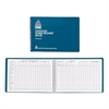 "Dome Simplified Home Budget Book - 64 Sheet(s) - Wire Bound - 7.50"" x 10.50"" Sheet Size - White Sheet(s) - Blue Cover - Recycled - 1 Each"