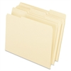 "Interior File Folder - Letter - 8 1/2"" x 11"" Sheet Size - 1/3 Tab Cut - Assorted Position Tab Location - Manila - 100 / Box"