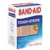 Band-Aid TOUGH-STRIPS Flexible Bandage - 20/Box - White