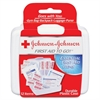 "Johnson&Johnson 12-piece Mini First Aid Kit - 12 x Piece(s) - 4"" Height x 4.5"" Width x 1.3"" Depth - 1 Each"