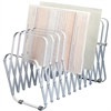 "Flexible Expandable Collator/Sorter/File - 12 - 7"" Width x 11"" Depth - Desktop - Silver, Gray - Aluminum - 1Each"