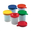 CLI Three-piece Paint Cups Set - Air Tight Seal Closure - 10 / Set - Assorted - Plastic - Paint