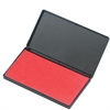 "CLI Stamp Pad - 1 Each - 2.8"" Width x 4.3"" Length - Foam Pad - Red Ink"
