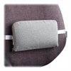 "The ComfortMakers Caster Lumbar Support Cushion - Washable, Adjustable Strap - Hook Mount - 12.5"" x 2.5"" x 7.5"" - Gray"