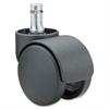 "Master Futura Euro Design ""B"" Stem ""S"" Wheel Caster - 2.18"" Diameter - 100 lb per Caster Load Capacity - Black"