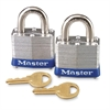 High Security Keyed Padlock - Keyed Alike - Steel Body, Steel Shackle - Silver