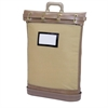 "MMF Padlocking Mail Bag - 18"" Width x 24"" Length - 5.25"" Gusset - Brown - Cordura Plus, Canvas, Plastic, Vinyl - 1Each - Mailing"