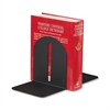 "MMF Fashion Magnetic Bookends - 7"" Height x 5.9"" Width x 5"" Depth - Desktop - Recycled - Black - Steel - 2 / Pair"