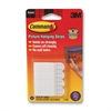 Command Removable Picture Hanging Strips - 1 lb (453.6 g) Capacity - for Pictures, Decoration - White - 4 / Pack