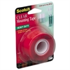 "Permanent Mounting Tape - 1"" Width x 5 ft Length - 1"" Core - Double-sided, Permanent Mounting - 1 Roll - Clear"