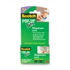 "Scotch® Pop-up Tape Strip Refill Pads, 3/4"" x 2"" - 0.75"" Width x 2"" Length - Writable Surface - 12 / Pack - Clear"