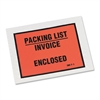 "Packing List/Invoice Enclosed Envelope - Packing List - 5.50"" Width x 4.50"" Length - Self-sealing - Polypropylene - 1000 / Box - Orange"