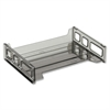 "Side Loading Stackable Desk Tray - 2.8"" Height x 13.2"" Width x 9"" Depth - Desktop - Smoke - 1Each"