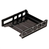 "OIC Front Load Letter Tray - 12.5"" Height x 10.5"" Width x 2.9"" Depth - Desktop - Smoke - 1Each"