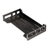 "OIC Black Side-Loading Desk Trays - 2.8"" Height x 16.3"" Width x 9"" Depth - Desktop - Black - Plastic - 1Each"