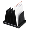 "OIC Compact Desk Sorter - 5 Compartment(s) - 5"" Height x 4.1"" Width x 3.5"" Depth - Desktop - Black - Plastic - 1Each"