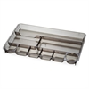 "OIC 9-Compartment Desk Tray - 9 Compartment(s) - 9"" Height x 14"" Width x 1.1"" Depth - Drawer - Smoke - 1Each"