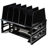 "OIC Tray/Sorter Combo - 5 Compartment(s) - 10.3"" Height x 13.5"" Width x 9.1"" Depth - Desktop - Black - 1 / Pack"