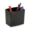 "OIC Large Pencil Cup - 4.5"" x 5"" x 3.8"" - Plastic - 1 Each - Black"