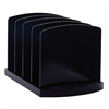 "4 Compartments Standard Sorter - 4 Compartment(s) - 6.8"" Height x 9.4"" Width x 8"" Depth - Desktop - Black - Plastic - 1Each"