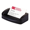 "OIC 2200 Business Card/Clip Holder - 1.4"" x 7.8"" x 3"" - Plastic - 1 Each - Black"