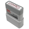 "OIC Self-inking Fax/Date Stamp - Message/Date Stamp - ""FAXED"" - 1.50"" Impression Width x 0.50"" Impression Length - Red - 1 Each"