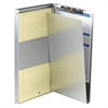 "OIC Aluminum Storage Clipboard - Storage for 30 x Sheet - Side Opening - 8.50"" x 14"" - Aluminum"
