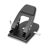 "Heavy-Duty Two-Hole Punch - 2 Punch Head(s) - 50 Sheet Capacity - 1/4"" Punch Size - Silver"