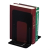 "OIC Standard Metal Bookends - 9"" Height x 8.2"" Width x 5.9"" Depth - Desktop - Black - Steel - 2 / Pair"