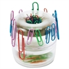 OIC Euro-Style Designer Paper Clip Holder - 1 Each - Clear