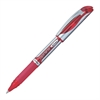Pentel EnerGel Liquid Gel Stick Pen - Medium Point Type - 0.7 mm Point Size - Refillable - Red Gel-based Ink - Silver Barrel - 1 Each