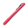 Clic Eraser Retractable Pen-Shaped Eraser - Lead Pencil Eraser - Refillable - Retractable, Latex-free Grip, Pocket Clip, Ghost Resistant, Non-abrasive - 1Each - Red