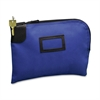 "PM SecurIT Canvas Night Deposit Bag - 9"" Width x 12"" Length - Blue - Canvas - 1Each - Deposit"