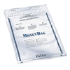"PM SecurIT Plastic Disposable Deposit Money Bag - 9"" Width x 12"" Length - White - Plastic - 100/Pack - Deposit"