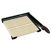 "Premier Sharpcut Trimmer - Cuts 15Sheet - 12"" Cutting Length - Straight Cutting - 0.5"" Height x 12"" Width x 12.3"" Depth - Wood Base - Wood Grain, Maple"