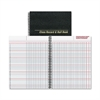 "Class Record & Roll Book - 40 Sheet(s) - Wire Bound - 11"" x 8.50"" Sheet Size - White Sheet(s) - Black Cover - Recycled - 1 Each"