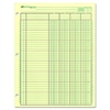"National Side Punched Analysis Pad - 50 Sheet(s) - Gummed - 11"" x 8.50"" Sheet Size - 3 x Holes - Green Sheet(s) - Green, Brown Print Color - 50 / Pad"