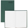"Green Bookcloth Journal book - 150 Sheet(s) - Gummed - 12.25"" x 7.25"" Sheet Size - White Sheet(s) - Green Print Color - Green Cover - Recycled - 1 Each"