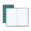 "Rediform Green Bookcloth Margin Record Book - 500 Sheet(s) - Gummed - 12.25"" x 7.25"" Sheet Size - White Sheet(s) - Green Print Color - Green Cover - Recycled - 1 Each"