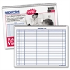 "Rediform Visitor's Log Book - 50 Sheet(s) - Wire Bound - 1 Part - 8.50"" x 11"" Sheet Size - White Sheet(s) - Blue Print Color - Recycled - 1 Each"