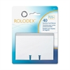 Rolodex Business Card Sleeve Refill - 40 Card - Clear