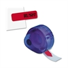 "Jumbo Rush Message Tag - 120 x Red - 1.88"" x 0.56"" - Rectangle - ""Rush"" - Red - Removable - 120 / Pack"