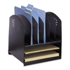 "Safco Rack Desktop Organizer - 8 Compartment(s) - 12.8"" Height x 12.3"" Width x 11.3"" Depth - Desktop - Black - Steel - 1Each"