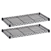 "Safco Industrial Wire Extra Shelve - 36"" x 18"" x 1.5"" - 2 x Shelf(ves) - 1000 lb Load Capacity - Leveling Glide - Black - Powder Coated - Steel - Assembly Required"